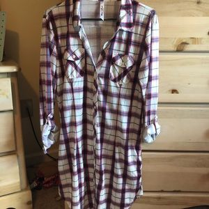 White Mark Plaid Dress